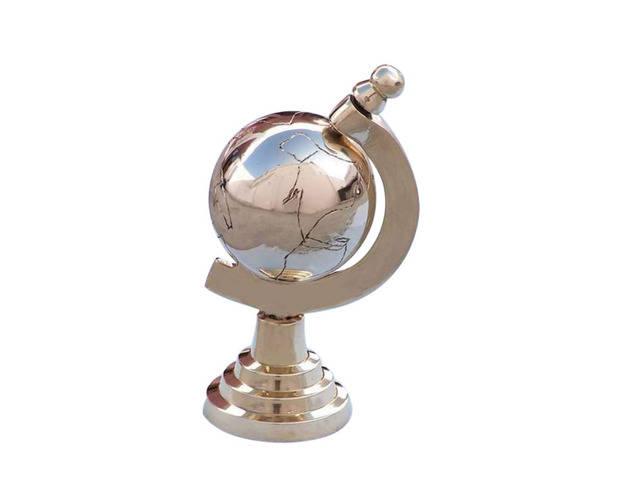 Brass Globe Paperweight 4