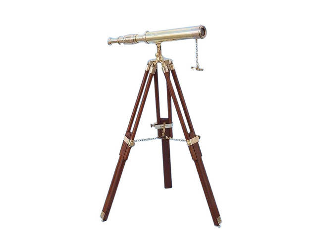Floor Standing Brass Harbor Master Telescope 30