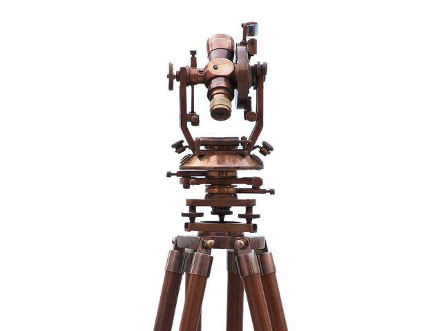 Floor Standing Antique Brass Theodolite 62