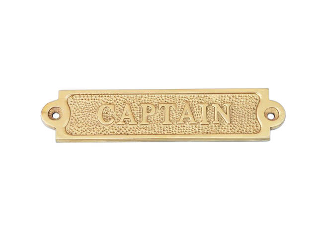 Brass Captain Sign 6