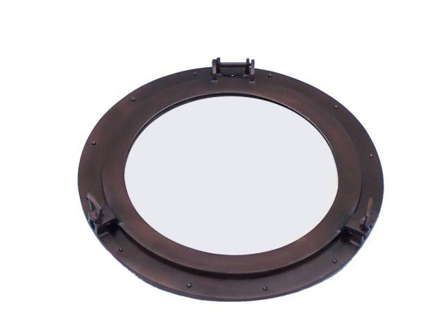 Bronze Deluxe Class Decorative Ship Porthole Mirror 20