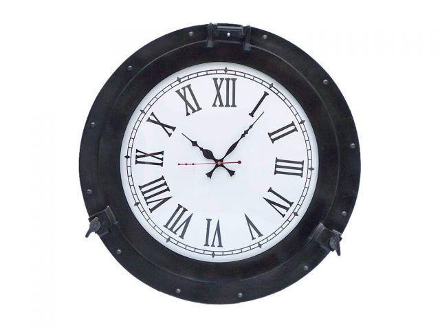 Oil Rubbed Bronze Deluxe Class Porthole Clock 20