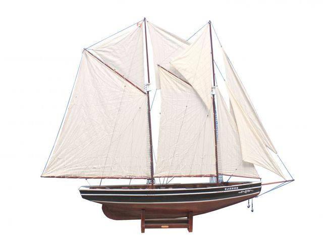Wooden Bluenose Model Sailboat Decoration 80