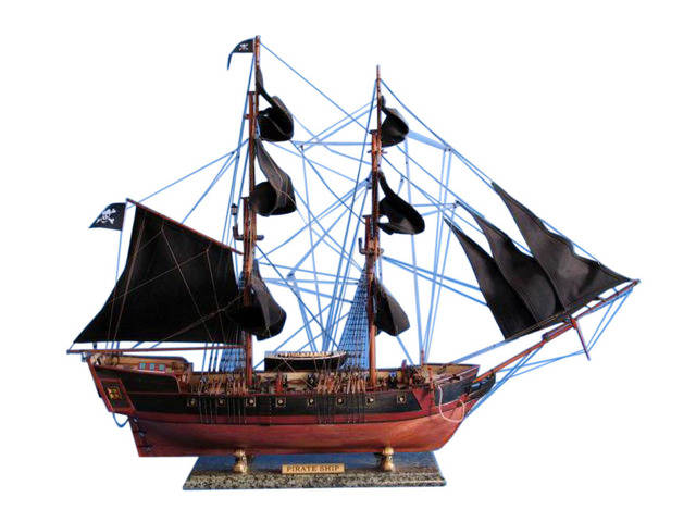 Wooden Caribbean Pirate Ship Model Limited 36 - Black Sails