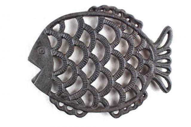 Cast Iron Big Fish Trivet 8