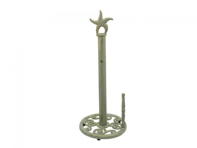 Seaworn Bronze Cast Iron Starfish Paper Towel Holder 15