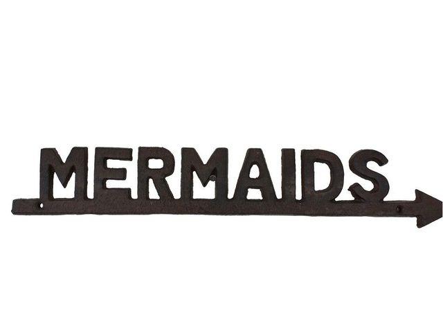 Rustic Cast Iron Mermaids Sign 19