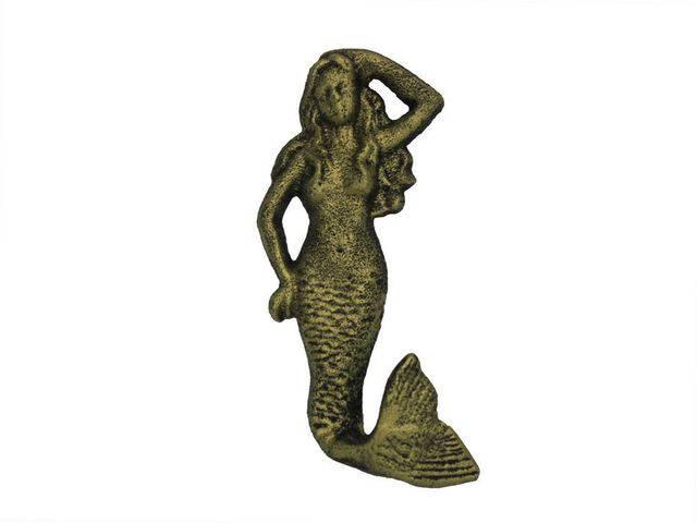 Rustic Gold Cast Iron Mermaid Hook 6