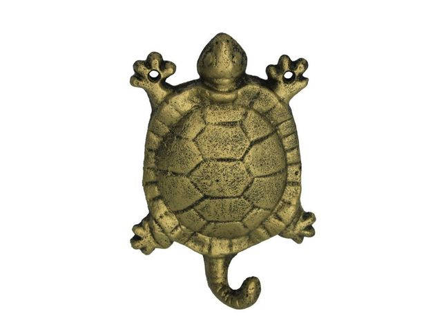 Rustic Gold Cast Iron Turtle Hook 6