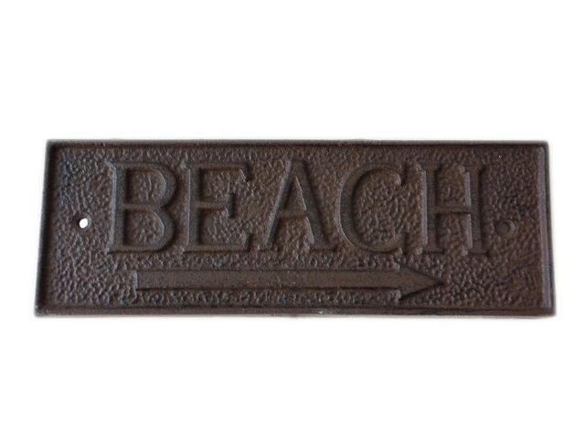 Rustic Iron Beach Sign 10
