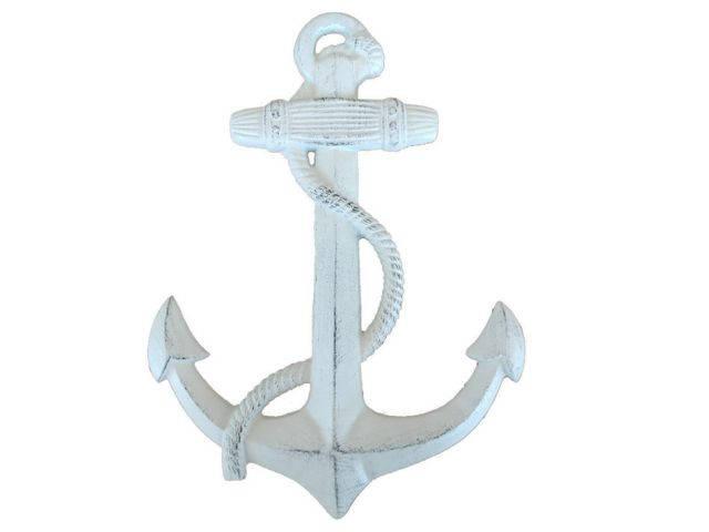Whitewashed Cast Iron Anchor 17