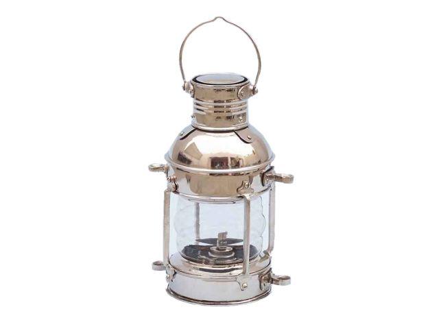 Chrome Anchor Oil Lantern 12