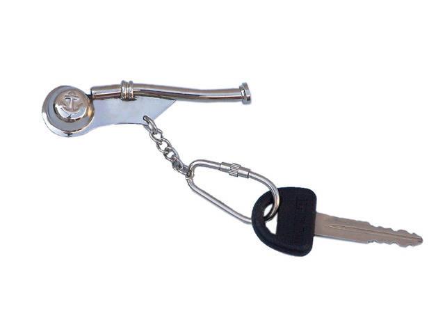 Chrome Bosun Whistle Key Chain 5