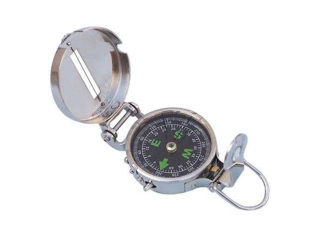 Chrome Military Compass 4