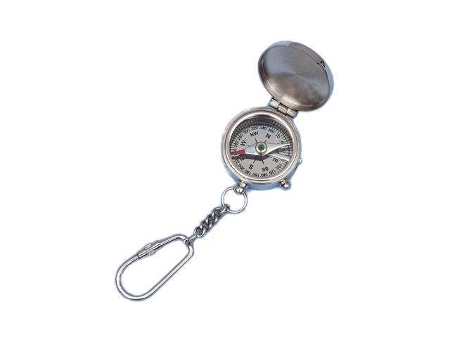 Chrome Compass with Lid Key Chain 5