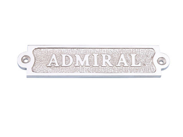 Chrome Admiral Sign 6
