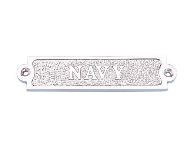 Chrome Navy Sign 6