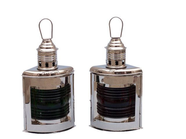 Chrome Port and Starboard Oil Lantern 12