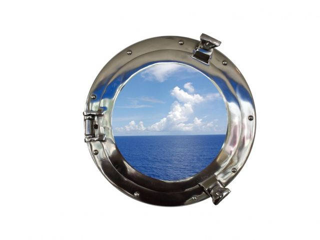 Chrome Decorative Ship Porthole Window 15