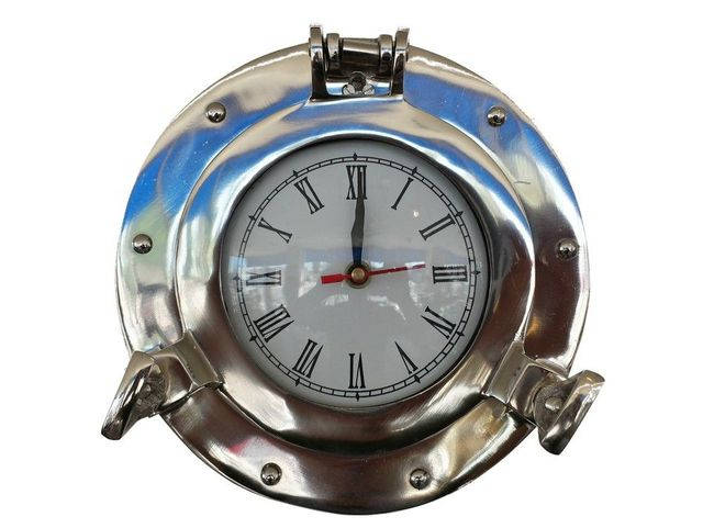 Chrome Decorative Ship Porthole Clock 8