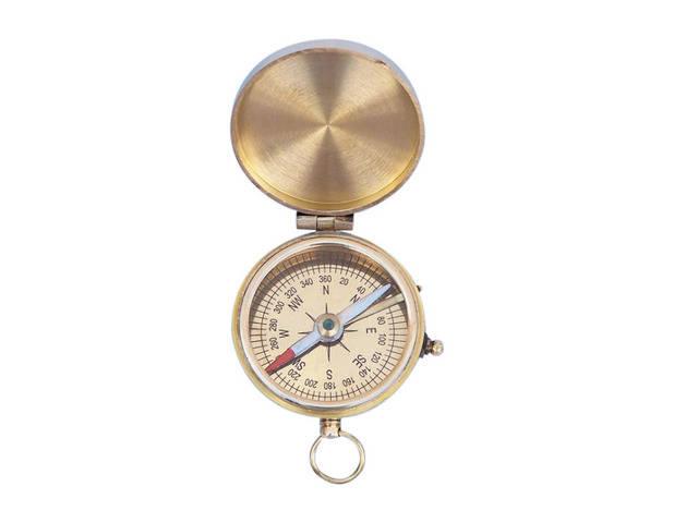 Solid Brass Magellan Compass 3