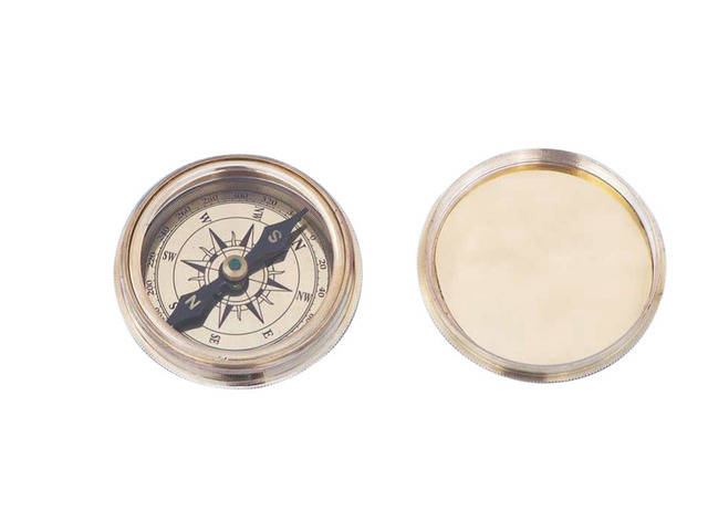 Solid Brass Clinometer Compass Paperweight 3