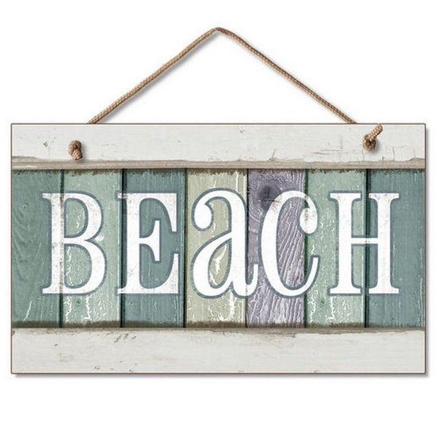 Wooden Beach Party Sign 10