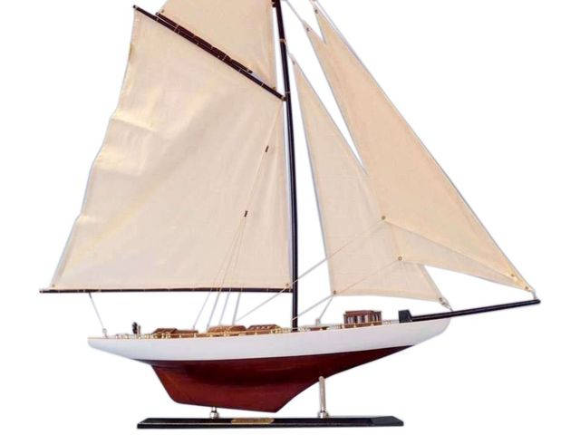 Wooden Columbia Limited Model Sailboat Decoration 35