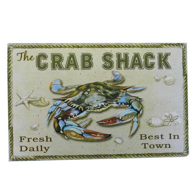Wooden Crab Shack Beach Sign 16