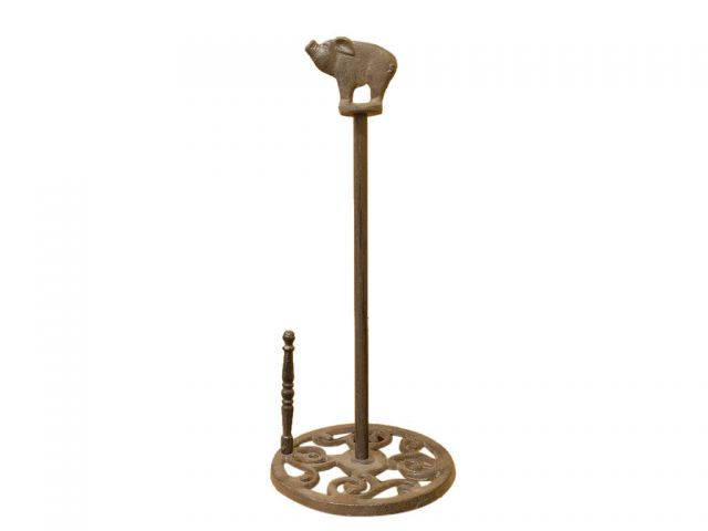 Cast Iron Pig Paper Towel Holder 15