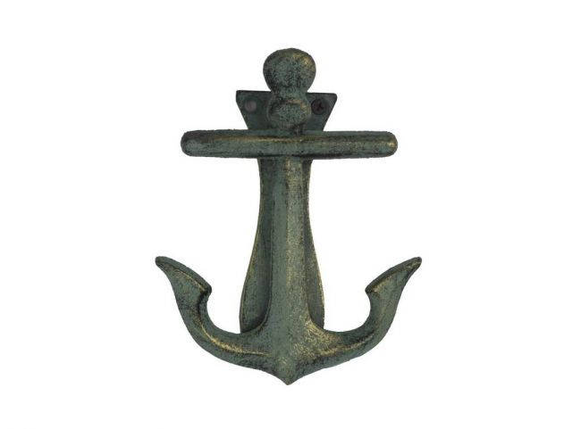 Antique Bronze Cast Iron Decorative Anchor Door Knocker 6