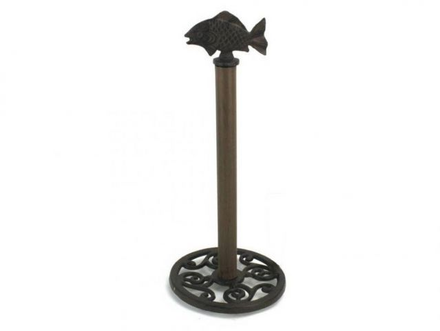 Cast Iron Fish Extra Toilet Paper Stand 15