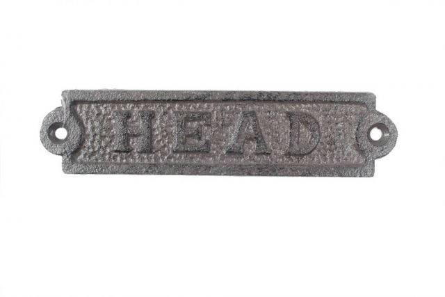 Cast Iron Head Sign 6