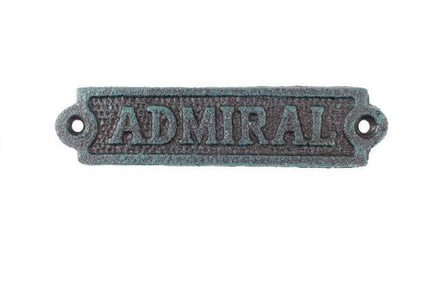 Seaworn Blue Cast Iron Admiral Sign 6