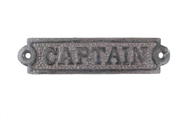 Cast Iron Captain Sign 6