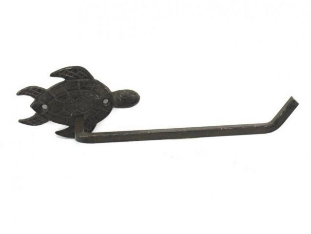 Cast Iron Sea Turtle Toilet Paper Holder 10
