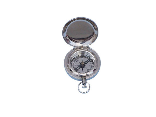 Chrome Scouts Push Button Dalvey Compass 2