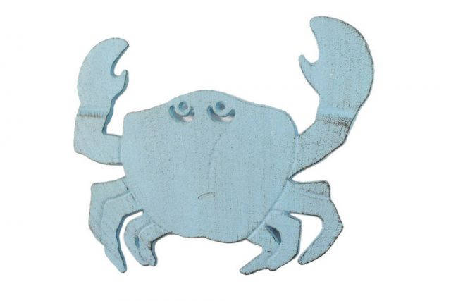 Rustic Light Blue Cast Iron Crab Trivet 11