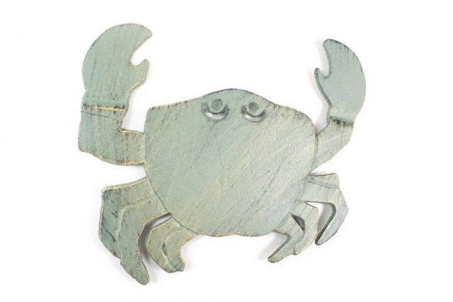 Antique Seaworn Bronze Cast Iron Crab Trivet 11