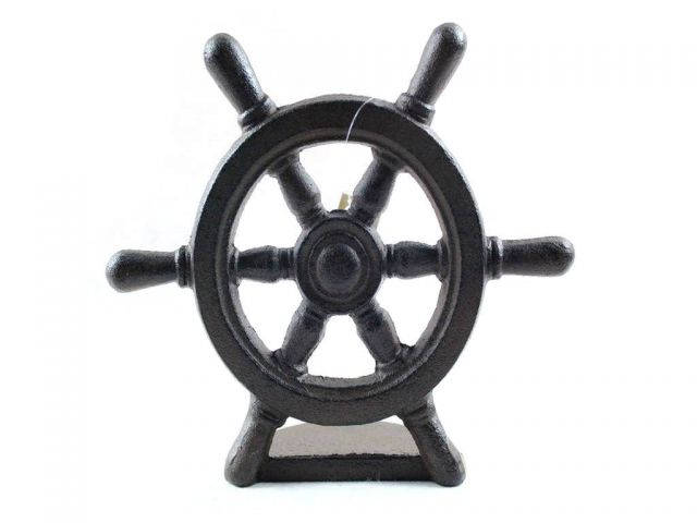 Cast Iron Ship Wheel Door Stopper 9