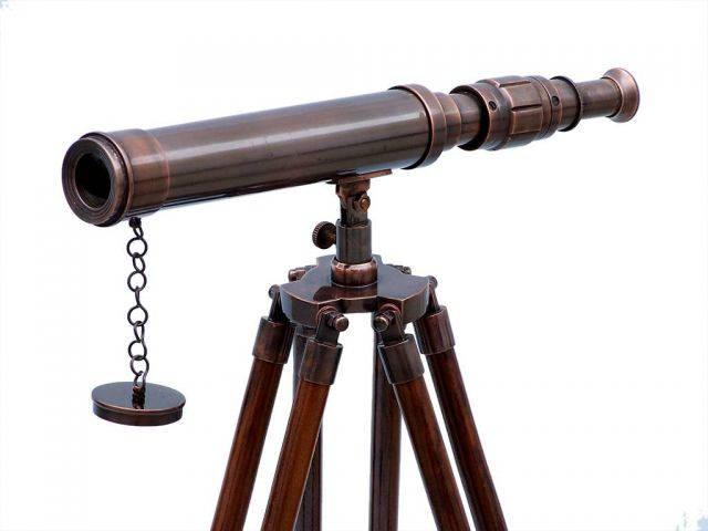 Standing Antique Copper Harbor Master Telescope 30