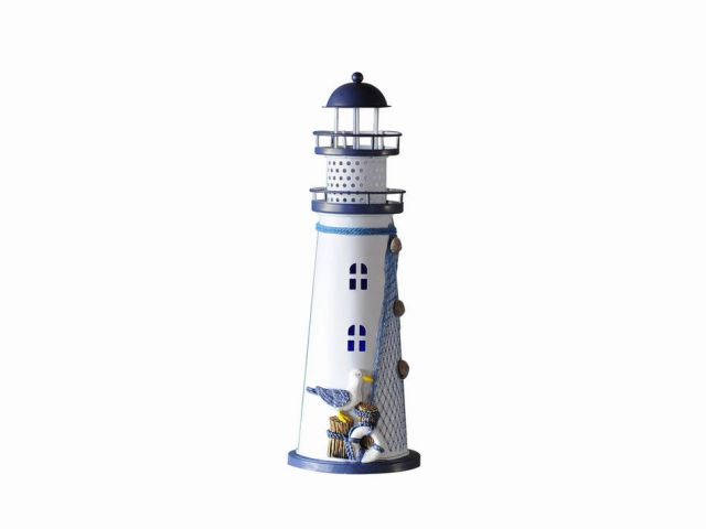 LED Lighted Decorative Metal Lighthouse with Seagull 12