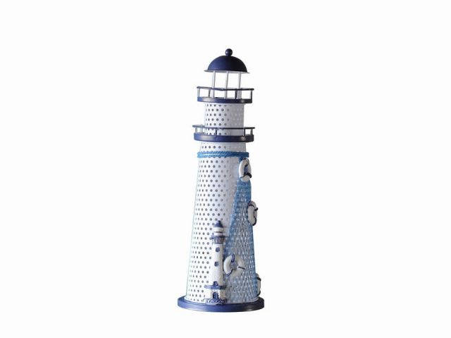 LED Lighted Decorative Metal Lighthouse with Medium Lighthouse 12