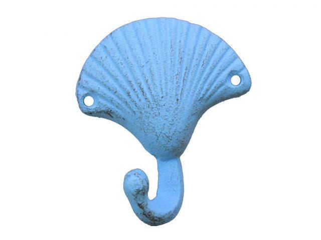 Rustic Light Blue Seashell Hook 4