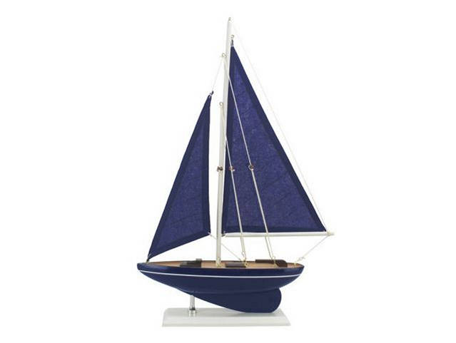 Wooden Deep Blue Sea Model Sailboat 17