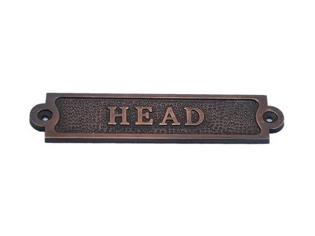 Antique Copper Head Sign 6