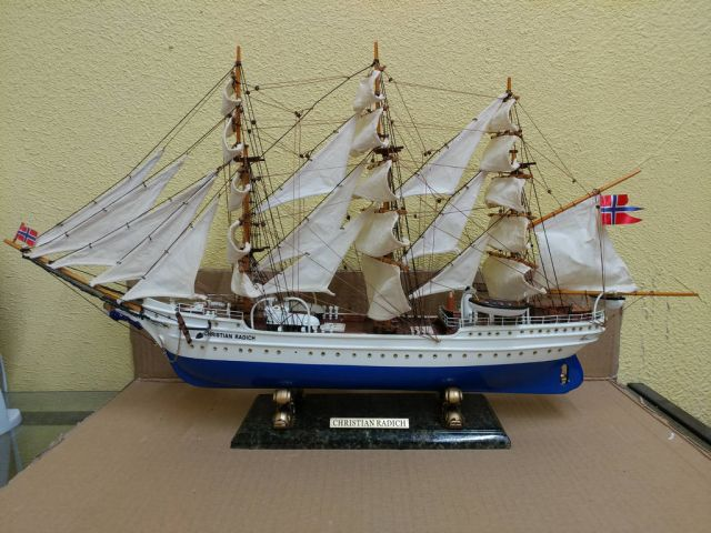 Wooden Christian Radich Limited Model Tall Ship 28