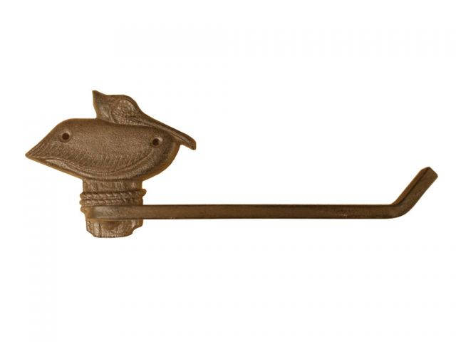 Cast Iron Pelican on Post Toilet Paper Holder 11