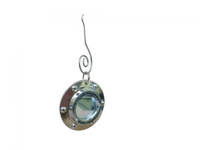 Chome Porthole Christmas Ornament 4