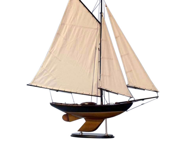 Wooden Newport Sloop Decoration 40